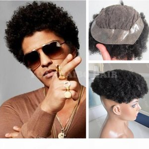 Hot Sale 6inch Short Indian Virgin Human Hair Natural Black Afro Curl Toupee for Black Men Free Shipping