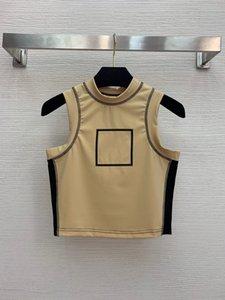 120 Spedizione gratuita 2021 Brand Brand Same Style Style Regular Syeveless Crew Neckvest Pullover Donne Vestiti Weinishi