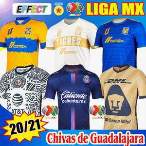 Nuevo 2020 2021 Chivas de Guadalajara Local Terceras camisetas de fútbol 20/21 Club América UNAM Gold LEON NAUL Tigres Club Wolrd Cup Pre-Match Shirts Soccer Jerseys