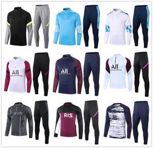 20 21 Marseille Männer Fußball-Trainingsanzug für reale Madrid-Fußballtrainingsanzug 2020 2021 Paris Mbappe survêtement de foot chandal Jogging