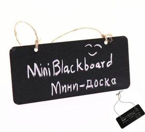 Colgante Mini pizarra de madera Pizarra de doble cara Borreable WordPad Sign Sign Black Board Cafe Office Secure Supplies LLS616