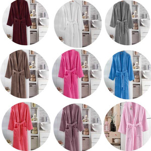 100% Cotton Long Thick Terry Unisex Bathrobe For Bath Soft Relax Dressing Gown Bridesmaid Robes Absorbent Femme Dressing Waffle Towel