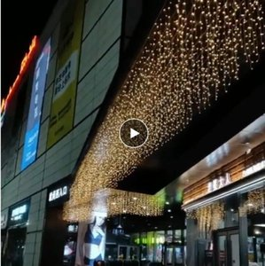 Christmas Lights Outdoor 4 8 12 16 20M Droop 0.6m Icicle Led Curtain Fairy Lights Wedding Party New Year Garland for Decoration