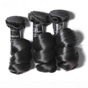 TKWIG 3 pcs loose wave hair bundles deals remy virgin hair extensions lace front shoulder length
