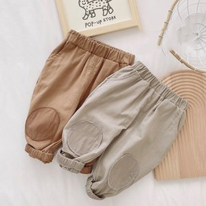 XZXY Korean Style INS Autumn Baby Kids Little Boys Pants Patchork Cotton Spring Elastic Wasit Trousers Summer Unisex Children Girls Trousers