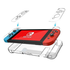 Ultra-Thin Anti-Scratch Hard Shell PC Back Case Cover for Nintendo Switch Transparent Ergonomic Accessories Skin 2017