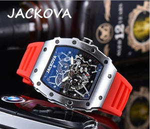 Wholesale cheap price brand fashion casual men's sports watch silicone movement men's skeleton flowers dial watch relogio masculino