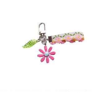 XRI color Cute Sleeping Key Doll Keychain hyuna daisy Pompom Rabbit Fur Ring ins wind Carabiner Baby Chain steel Small fresh wire rope