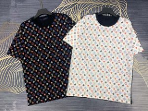 21ss mens designer spring summer paris poker letters printing Tee t shirt fashion men women casual cotton T-Shirts black white 04