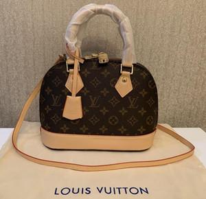 Top Qualität Frauen Handtasche Alma Bb Shell Tasche Luxus Griff Nette Tasche Damier Ebene Crossbody Bag Patent Leder Designer Umhängetaschen