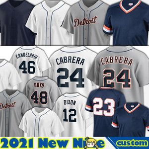 24 Miguel Cabrera Detroit Jerseys 12 Brandon Dixon 56 Spencer Turnbull Baseball Jonathan Schoop Jeimer Candelario Robbie Grossman Paredes