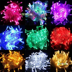 10M 100leds Colorful led strings Christmas string lights outdoor Decorations Lighting Party Wedding 110V 220V red bule green yellow warm white purple pink RGBY