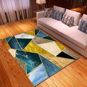 Carpets 3D Geometric Pattern Kids Room Bedroom Carpet Decoration Home Corridor Floor Bed Head Mat Area Rug