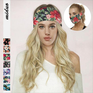 Party Mask Hair Bands Elastic Sport Headband Multi-function Headwear Scarf For Fitness Sweat Absorbing Turban Multi Colors Wholesale