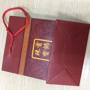 HBP Fashion Shipai Anello Orecchino Collana speciale Gold Panno in seta rosa Velluto Boutique Boutique Boutique Borsa regalo