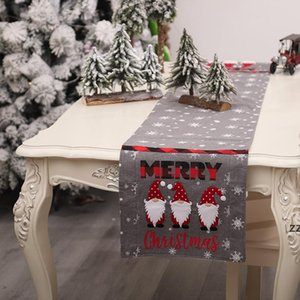 new Christmas embroidery faceless elderly table runner snowflake tablecloth creative coffee decoration placemat HWD10099