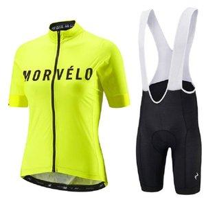 Гоночные наборы Morvelo 2021 Женщина Велоспорт Джерси Компл. Pro Велосипеда Спортивная одежда Велосипедная Одежда Шорты Рукав Одежда Maillot ROPA Ciclismo
