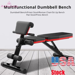 4 in 1 Household Fitness Chair Abdominal Board Dumbbell Home Professional Multifunctional Fitness Equipment Muscle Fitness Chair Foldable