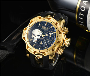 2021 New Mens Watch Skull dial Multiple Styles INVICTA Fashion Casual Watches Rubber strap clock Hot Items