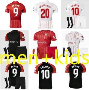 Homens Crianças 2021 2022 Sevilla FC Futebol Jerseys 21 22 Papu Gomez I.Rakitic l.ocampos de jong j.navas Suso munir y.en-nesyri kits camisas de futebol uniforme