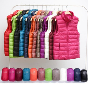 Woman Down Vests Winter Ultralight Duck Down Coat Female Sleeveless Puffy Jacket Portable Windproof Warm Waistcoat PDG1957