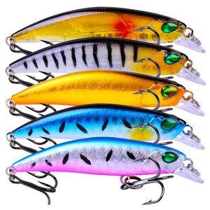 Mixed 5 Color 6.8cm 4.2g Minnow Fishing Hooks Fishhooks 8# Hook Plastic Hard Baits & Lures Pesca Fishing Tackl jllBdx warmslove