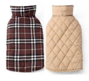 Fashion Plaid Winter Dog Abrigos ropa para mascotas para perros pequeños Chihuahua al aire libre impermeable chaqueta de perro grande 30 S2
