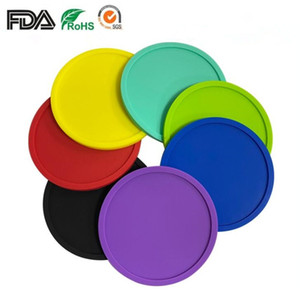 7Colors Silicone Coasters Non-Slip Cup Coasters Heat Resistant Cup Mate, Soft Coaster For Tabletop Protection Fits Size Drinking Glasses