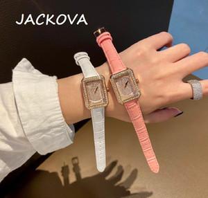 Famous Brand Leather Bracelet Watch Women Fashion Womens Quartz Watches Hip Hop Diamonds Ladies Clock Female