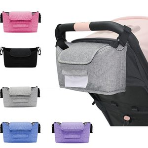 Large Capacity Mummy Baby Diaper Nappy Stroller Carriage Organizer Bag Baby Stroller Accessories With Hook and Shoulder Strap