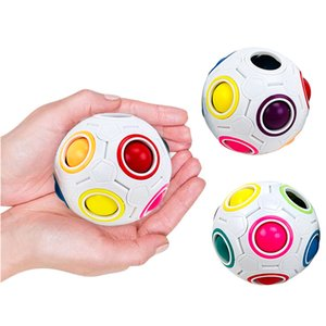Rainbow Puzzle Ball Pack Pouch Color Matching Game Fidget Toy Reliever Magic Brain Kids Adults Children