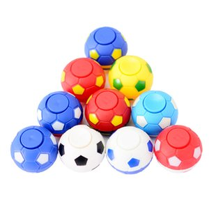 20Pcs Lot Football Fingertip Spinner Finger Gyro Decompression Toy Anti Stress Hand Spiner Rotate Rotating Gifts