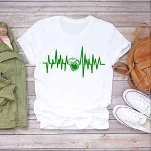 Women 90s Cartoon Beer Funny Love Cute Short Sleeve Clothes Lady T shirts Top Womens T Shirt Ladies Graphic Female Tee T