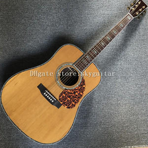 Factory custom 41-inch acoustic guitar, solid Korean pine top, rosewood sides and back, rosewood fingerboard, high quality guitarra