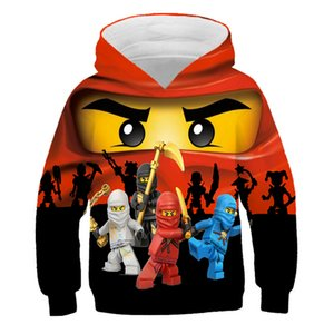 XINYOU Fashion Lego Ninjago Hoodie 2021 Summer Kids Hoody For Teen Girls Tee Baby Clothing Fashion Designer Pullover Top Anime