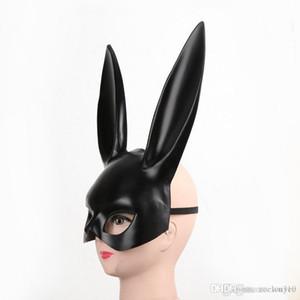 Black Sexy Rabbit Ear Mask Women Girl White Cute Bunny Long Ears Bondage Mask Halloween Masquerade Party Cosplay Costume Prop DBC VT0942