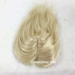 """Human Hair Silk Base Topper 5""""x5"""" Top Closures Center Part For Women Natural Color Can Be Dyed"""