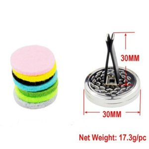 Aromatherapy Home Essential Oil Diffuser For Car Air Freshener Perfume Bottle Locket Clip with 5PCS Washable Felt Pads ZZE5155