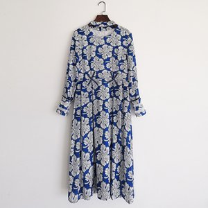 120 XL 2021 Runway Dress Spring Summer Dress Brand Same Style Empire Long Sleeve Crew Neck Womens Dress Fashion High Quality YY