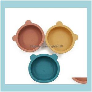 Bowls Dinnerware Kitchen, Dining Bar Home & Gardensile Tableware Bear Shape Plate With Non Slip Sucker Infant Baby Bowl Feeding Dishes Zyy70