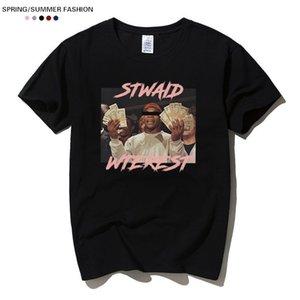 티셔츠 남성 여성 여름 인쇄 코튼 티셔츠 Kanye West Tops Streetwear 화이트 블랙 풀오버 옷 캐주얼 의상
