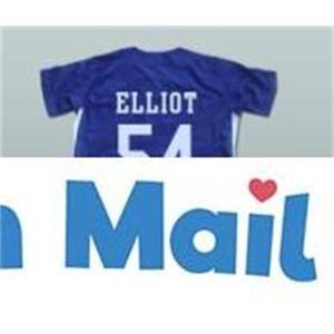 Minanser Chunichi Dragones Jack Elliot Mr. Baseball Movie Jersey 54 Mens Todos los jerseys cosidos Blue S-3XL GRATIS envío rápido