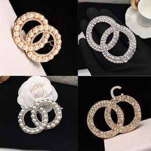 sale Designer Brooch Famous Letter Diamond Pin Tassel Women Luxury Brooches Jewelry Clothing Decoration