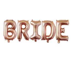 32 inch Rose Gold BRIDE Letter Foil Balloons Wedding Decorations Alphabet Air Baloon Bride Tream Shower Hen Party Wedding ballon