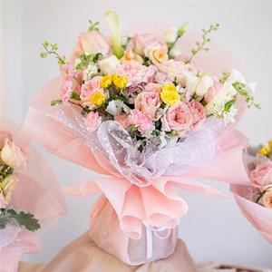 50cm*4 Yard Snow Dot Gauze Flower Wrapping Paper Wedding Birthday Party Decoration Florist Supplies Scrapbook Materials EWD4894