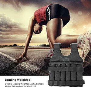 20kg 50kg Loading Weight Vest For Boxing Weight Training Workout Adjustable Waistcoat Jacket Sand Clothing Fitness Gym Equipment