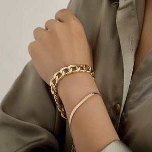 Link, Chain States Jewelry Fashion Aluminium Alloy Snake Bracelet With Female Bone Street Punk Joker Clap To Act The Role Of Two Suits