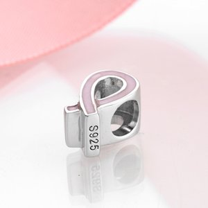 925 Sterling Silver Pink Murano Glass Flower love is forever Bead For jewelry making Pendant Fit Original Charm Pandora Bracelet