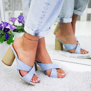 Loozykit New Woman Sandals 2020 verano tacón alto mujer moda sandalias elegantes abiertas de los zapatos de las señoras Chaussures Femme Tamaño 35 43 Comprar S V1OQ #