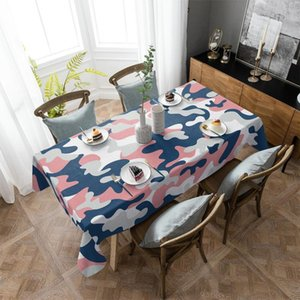 Table Cloth Color Camouflage Abstract Tablecloth Rectangular Christmas Dinning Decor Cover Waterproof